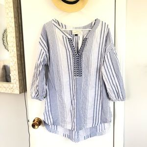 Blue and White Summer Tunic
